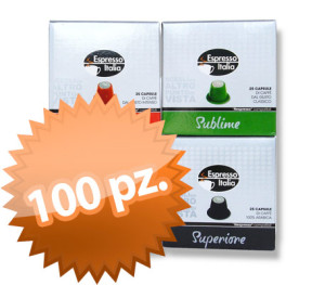 100 capsule Nespresso compatibile Gimoka