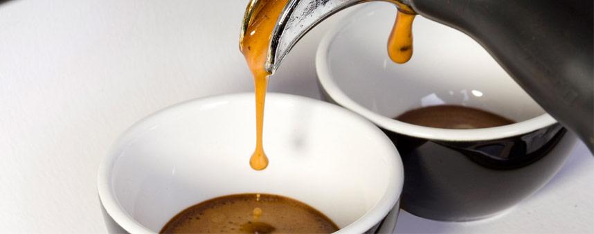 Due tazzine caffè espresso