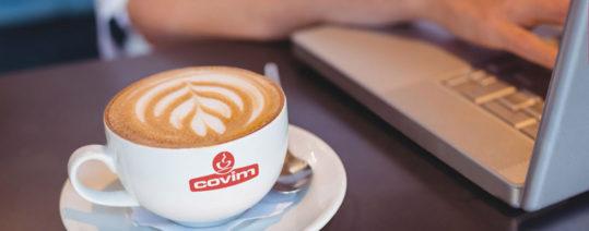 Caffè covim e computer